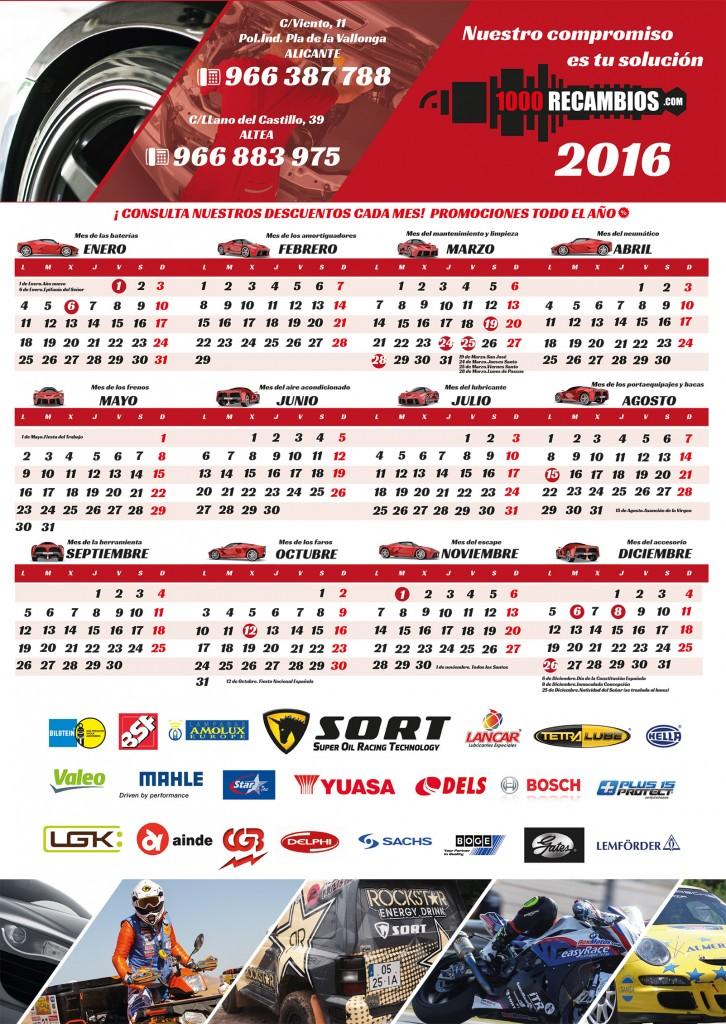 Calendario de promociones 1000 Recambios
