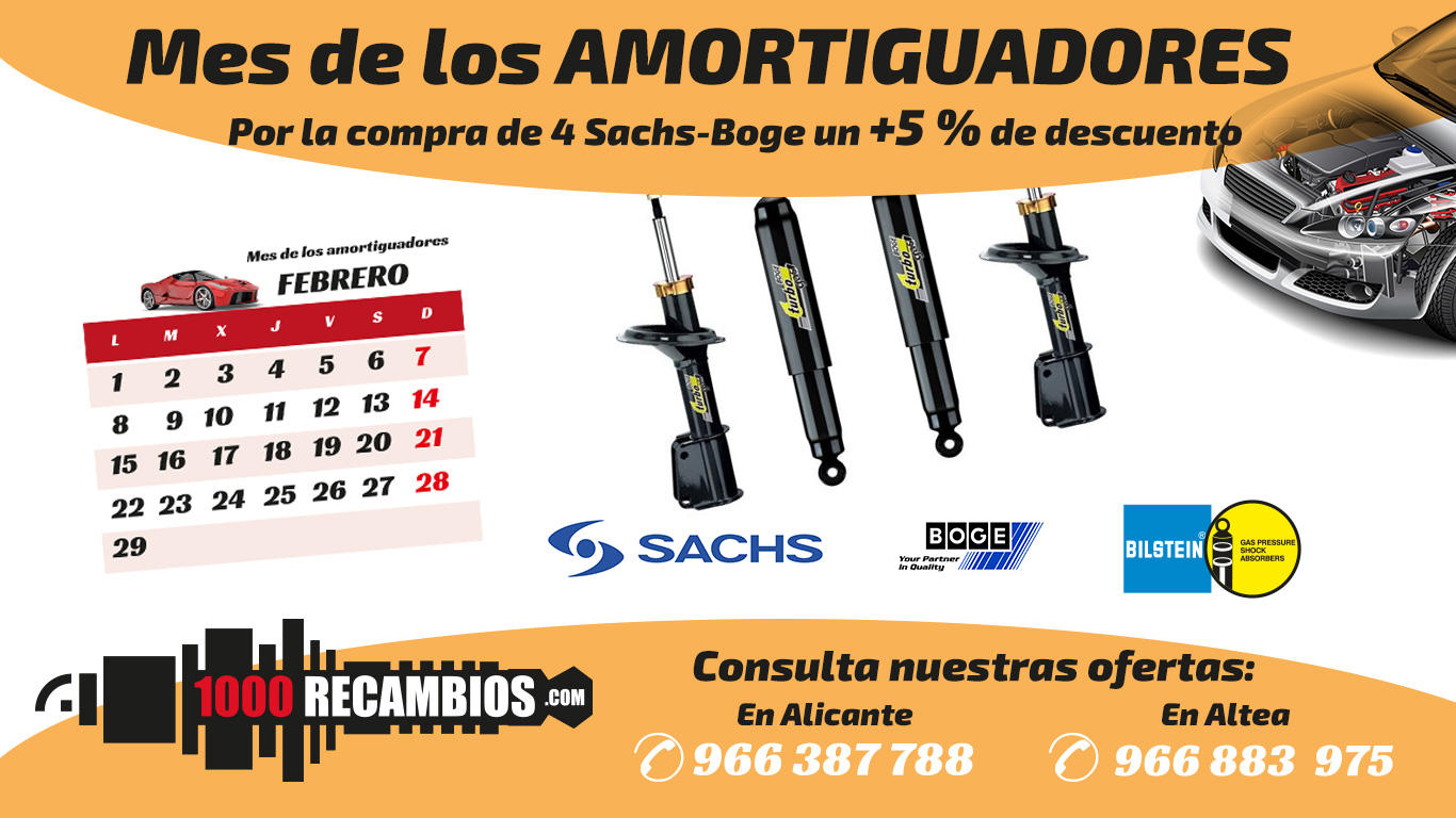Promoción amortiguadores 5% de descuento SACHS BOGE